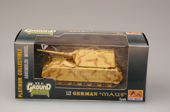 TRUMPETER model EASY MODEL 36205 1/72 scale tank German maus tank assembled model finished model tank(China (Mainland))