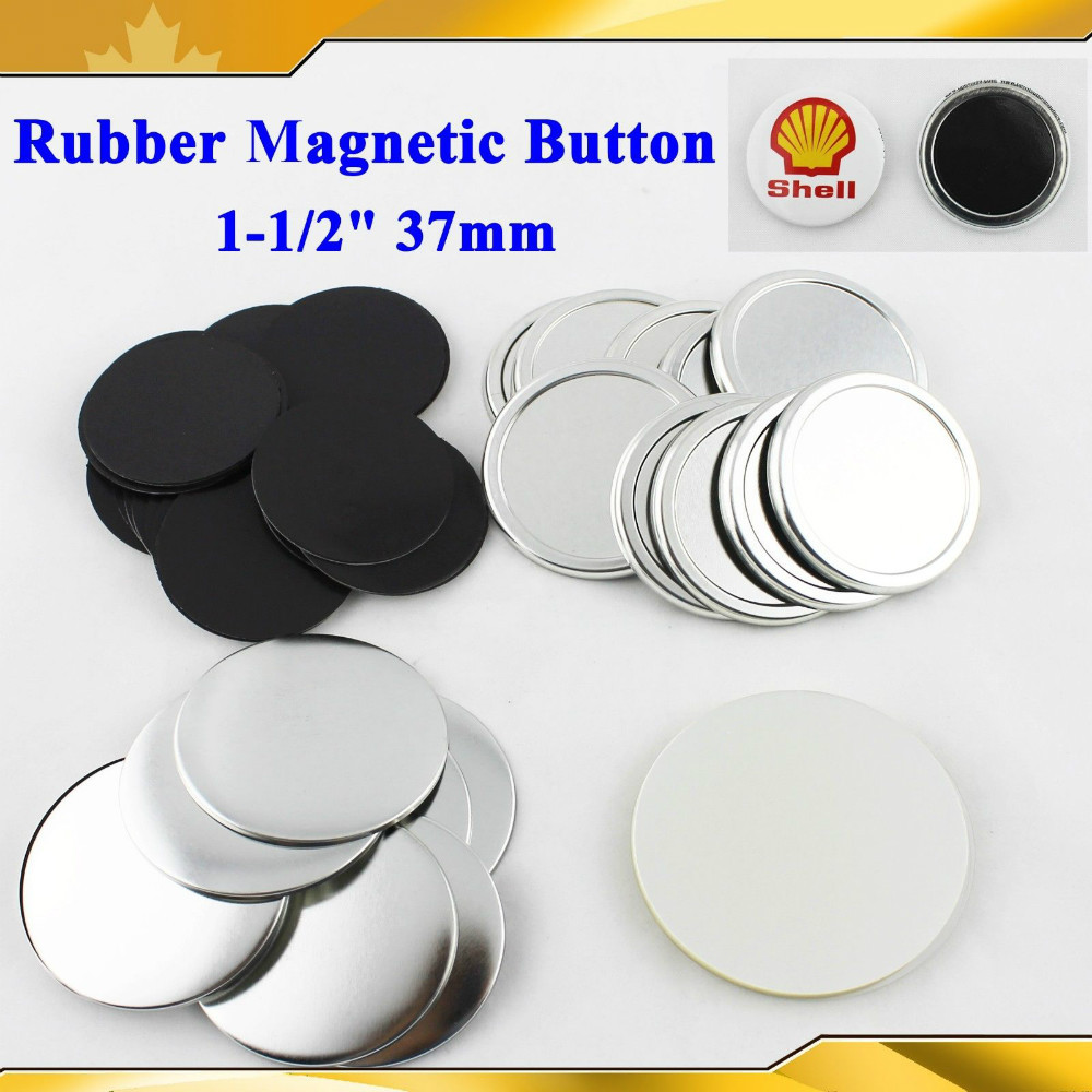 "1-1/2"" 37mm 100 Sets Soft Rubber Magnetic Magnet Button Supply Materials for l Badge Button Maker(China (Mainland))"