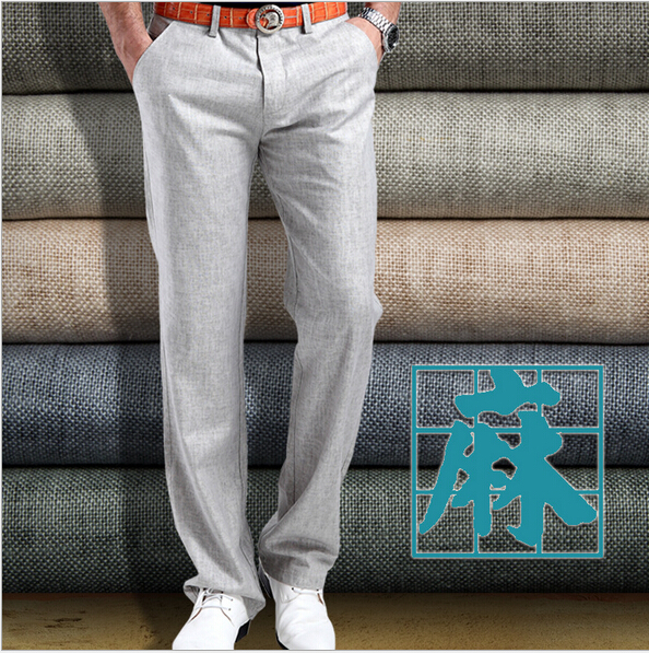 Mens Casual Linen Trousers Casual Trousers For Men