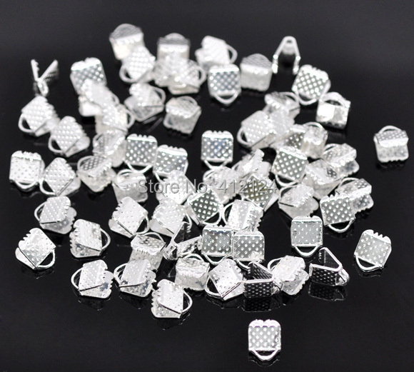 7500 Wholesales Free Shipping Hot New DIY Silver Plated Textured End Cap Crimp Beads Jewelry Making Findings Component 6x8mm<br><br>Aliexpress