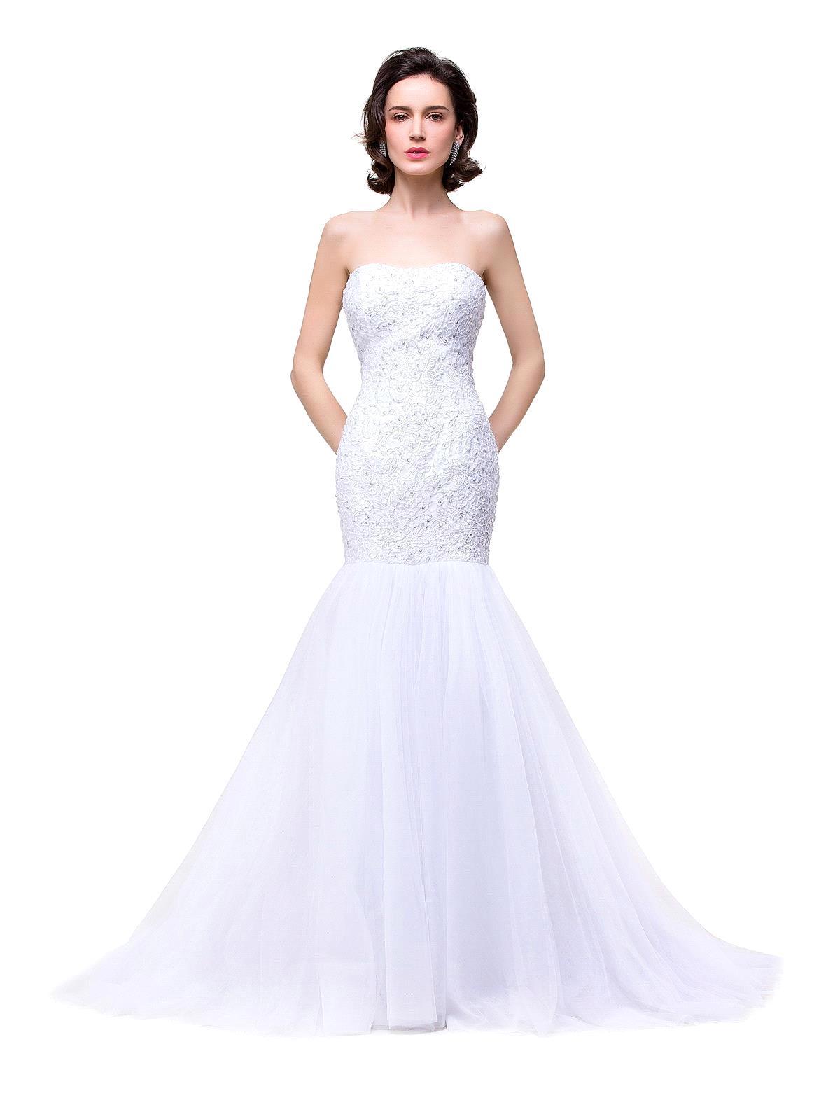 Elegant Wedding Dress Open Back : De novia sexy open back lace mermaid wedding dress elegant