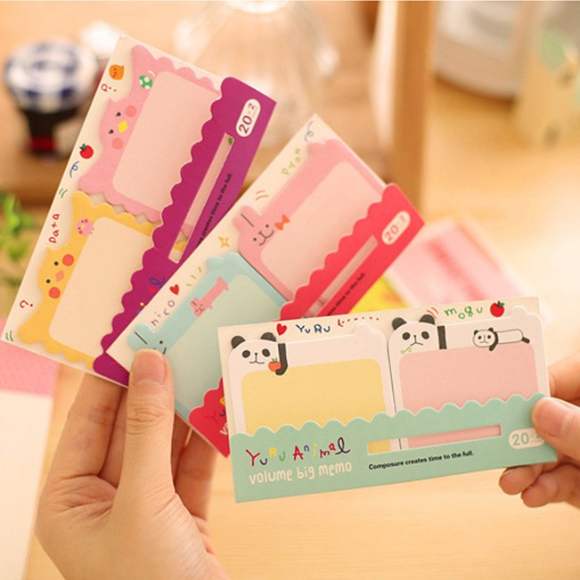 1 piece creative stationery cute cartoon stickers N other post momo pad posted notes this message 12.5*6.7cm mixed color(China (Mainland))