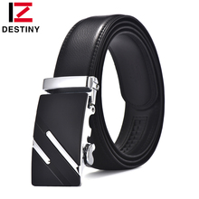 Buy DESTINY leather belt men automatic metal buckle high cowhide strap male jeans cowather luxury famous brand designer for $7.70 in AliExpress store