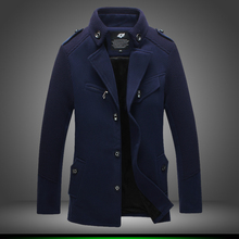 2015 Men's Clothing Coats & Jackets autumn/winterTrenchmale short design woolen trench male outerwear perfect slim free shipping(China (Mainland))
