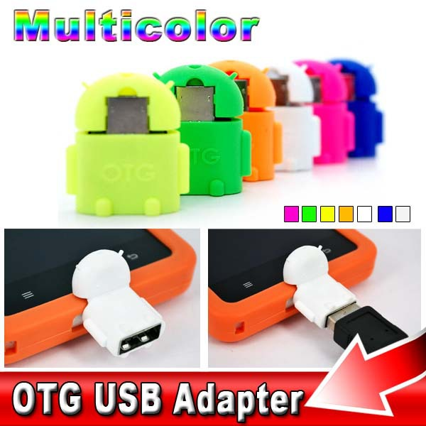 mini OTG Kit Micro USB to USB Adapter Android Robot Sync Data to Mouse Flash Disk Keyboard For Samsung HTC S4 S6 edge G2 G3 G4(China (Mainland))