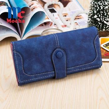 2016 Hot Sale Dull Polish Leather Women Wallets Long Wallet Day Clutch Purse Portefeuille Card Holder Carteira Feminina DB5691