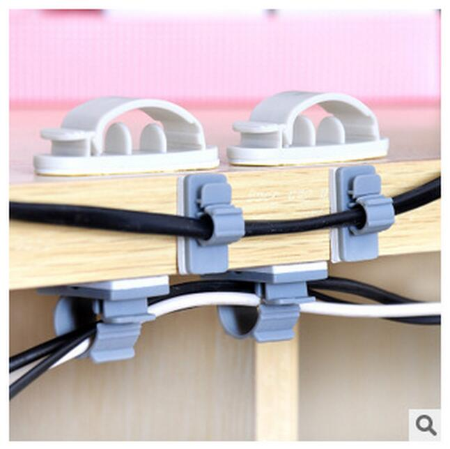 15PCs or 10pcs Adhesive Household cable Holders storage Racks electrical wire collector cable collator line collator B0426(China (Mainland))