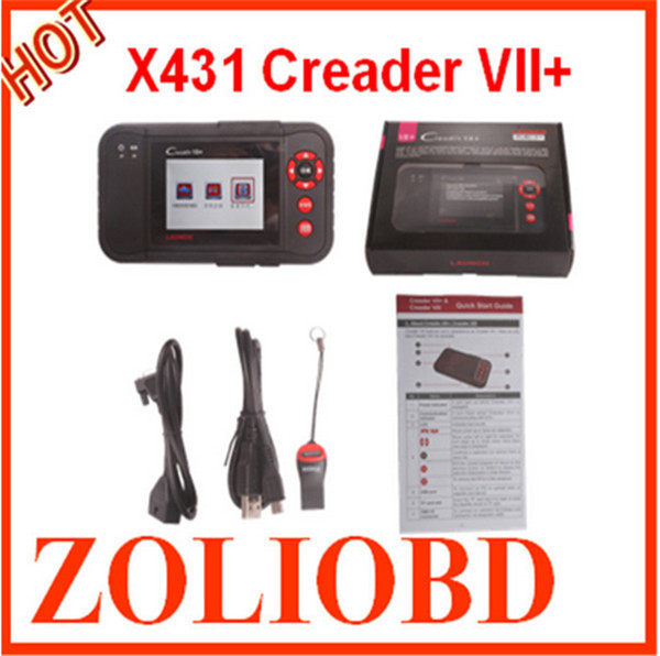 2015 Professional Launch X431 Creader VII+ Diagnostic scanner multi-language Launch X431 Creader 7+ on sale with good quality(China (Mainland))