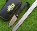 Green thrust bearing tactical D2 folding blade aluminum alloy gasket outdoor camping knife pocket EDC tool