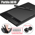 Parblo A610 10 Extra Nibs Digital Graphics Drawing Tablet 2048 Level Pen Anti fouling Glove Gift
