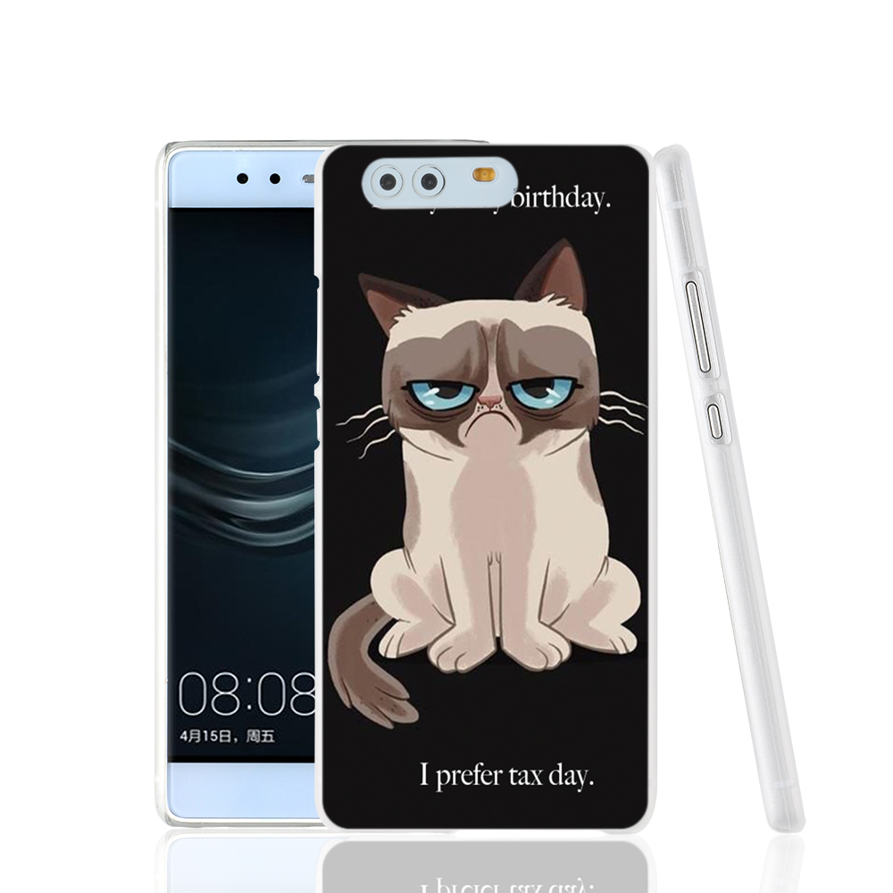 14667 Grumpy Cat Quotes I Had Fun It Was Awful cell phone Cover Case for huawei Ascend P7 P8 P9 lite Maimang G8(China (Mainland))