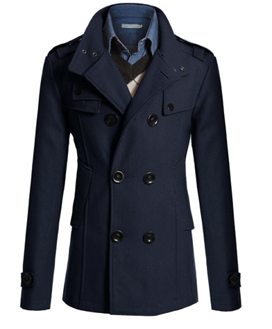Compare Prices on Men Slim Pea Coat- Online Shopping/Buy Low Price