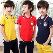 Buy Kids polo shirt 2017 summer boys short sleeve polo shirt cotton letter children clothes fashion brand clothing y28 for $9.51 in AliExpress store
