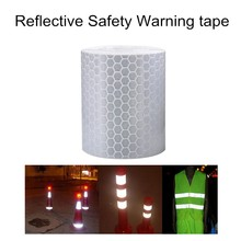 10 pcs 300cm car-styling Reflective Tape Car Stickers For Motorcycle Truck Safe Material Safety Warning Vinyle Tape silver white(China (Mainland))