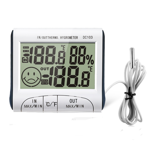 Weather Station Household Indoor and Outdoor Use Temperature Humidity Meter Temperature Display Thermometer Hygrometer  DC103<br><br>Aliexpress