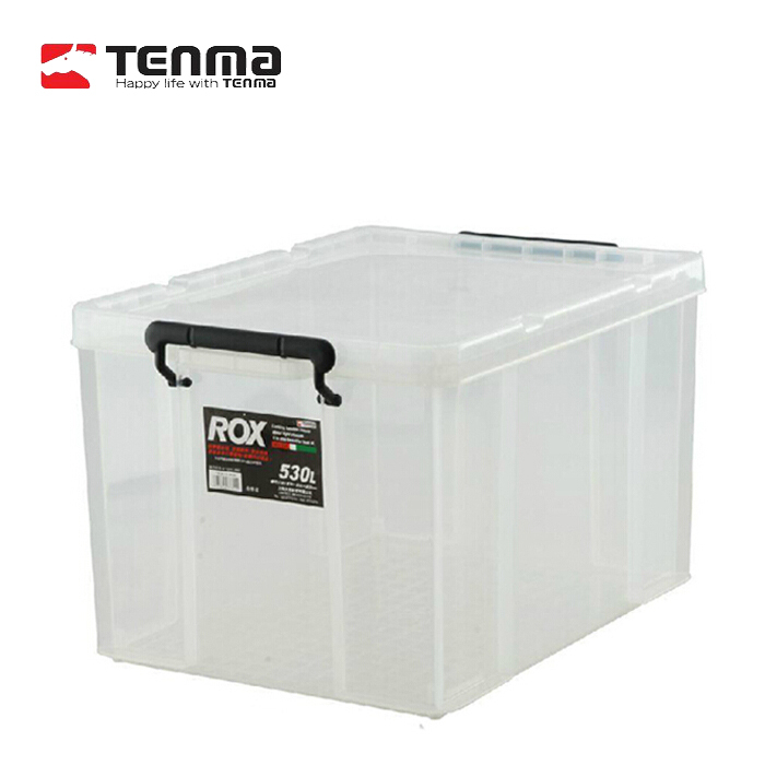 Pegasus Tenma large clear plastic storage box covered clothes quilt finishing storage box 530L Favorites(China (Mainland))