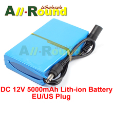 Super Rechargeable Pack Protable Lith-ion Battery for DC 12V 5000mAh EU/US Plug(China (Mainland))