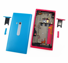 Original new mobile phone housing for Nokia Lumia n9 back case battery cover door with sim card tray +USB cover(China (Mainland))