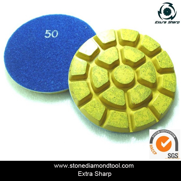 4 inch diamond floor cleaning pad /resin polishing pad for granite and marble(China (Mainland))