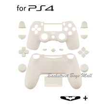 Cutom Matte White Replacement Full shell and buttons mod kit For DualShock PlayStation 4 PS4 Controller  Housing Cover Case