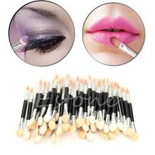 50pcs professional Makeup Brush Set tools Disposable Double Ended Make-Up Sponge Applicator Eye Shadow Lip Brushes(China (Mainland))