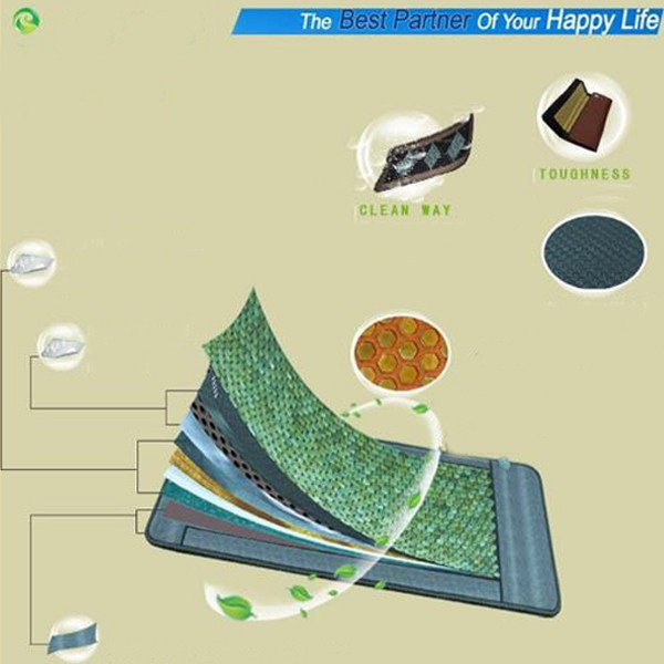 Hot Sale! Electric Heated Jade Pad /Jade,Tourmaline,Germanite Massage Jade Cushion with Heating 50*50CM  AC220V cheap