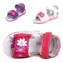 Auf verkauf 1 pair Marke Kinder Ledersandalen Mädchen Weiche Schuhe, Super qualität Kinder Outdoor Orthopädische Schuhe(China (Mainland))