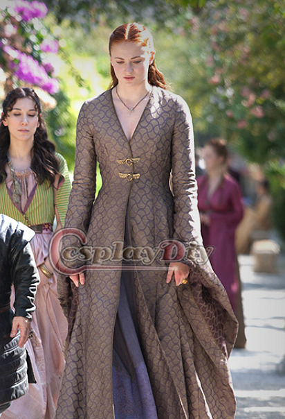 Custom Made Sansa Stark Game of Thrones Vintage Medieval Dress Halloween Costumes For Adult Women Cosplay CostumeОдежда и ак�е��уары<br><br><br>Aliexpress