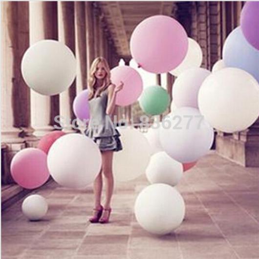 "1 PCS Hot Colorful 36"" Giant Big Round Balloon Latex Birthday Wedding Party Helium Decoration(China (Mainland))"