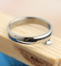 316l titanium steel Smooth simple fashion generous men ring Stainless Steel Rings