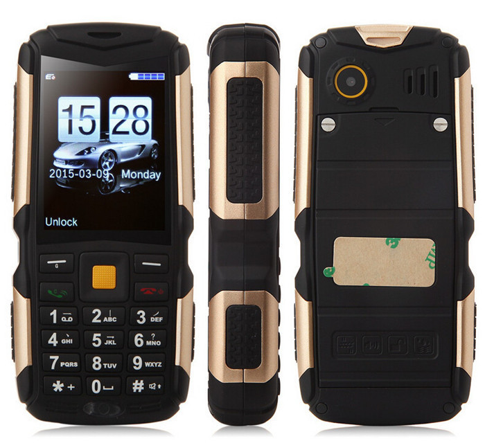 Original M12 phone IP68 Waterproof Shockproof Dustproof mobile phone 2200mAh battery Three Sim card GSM+CDMA Russian(China (Mainland))