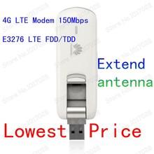 E3276-150 Huawei 4G LTE modem Extended antenna LTE FDD/TDD USB  Modem 150Mbps HSDPA WCDMA LTE usb modem 2G 3G 4G usb data card