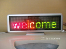 3 Color Programmable LED Message Sign Scroll Moving Display 16x64 dot Desk board(China (Mainland))