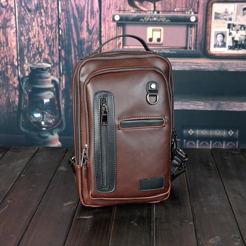 Y&F PU Leather men bag crazy horse leather men's handbags zipper crossbody shoulder Bags briefcase messenger bag free ship F325(China (Mainland))