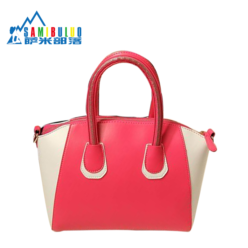 2012 Fashion Women's Handbag Color Block Vintage Bag Candy Color Block Bag Motorcycle Bags(China (Mainland))