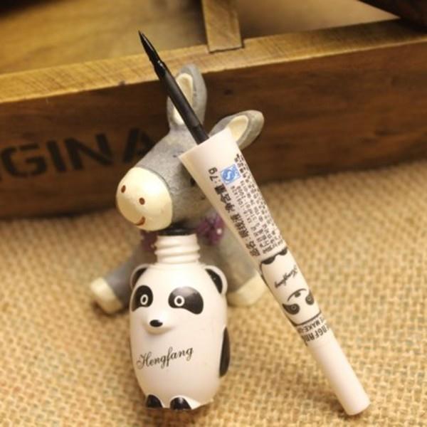 Best*SM13 Cute Panda Waterproof Makeup Cosmetic Black Liquid Smooth Eye Liner Eyeliner Pen(China (Mainland))