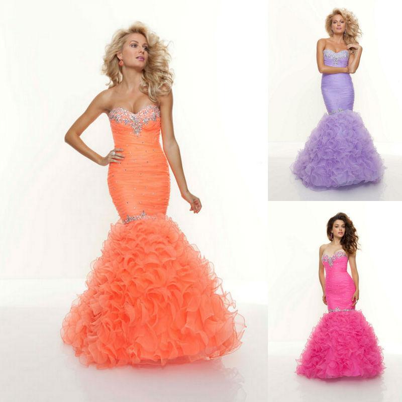 High Quality Orange Sweetheart Mermaid Prom Dress-Buy Cheap Orange ...