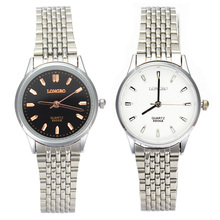 Dress Fashion Women Stainless Steel Chain Watch Lady Black White Quartz Watches