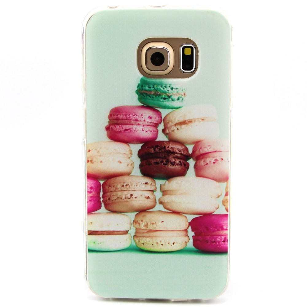 ZeWoo TPU Case - T014 / Colorful cake - for Samsung Galaxy S6 Edge Silicone Cover(China (Mainland))