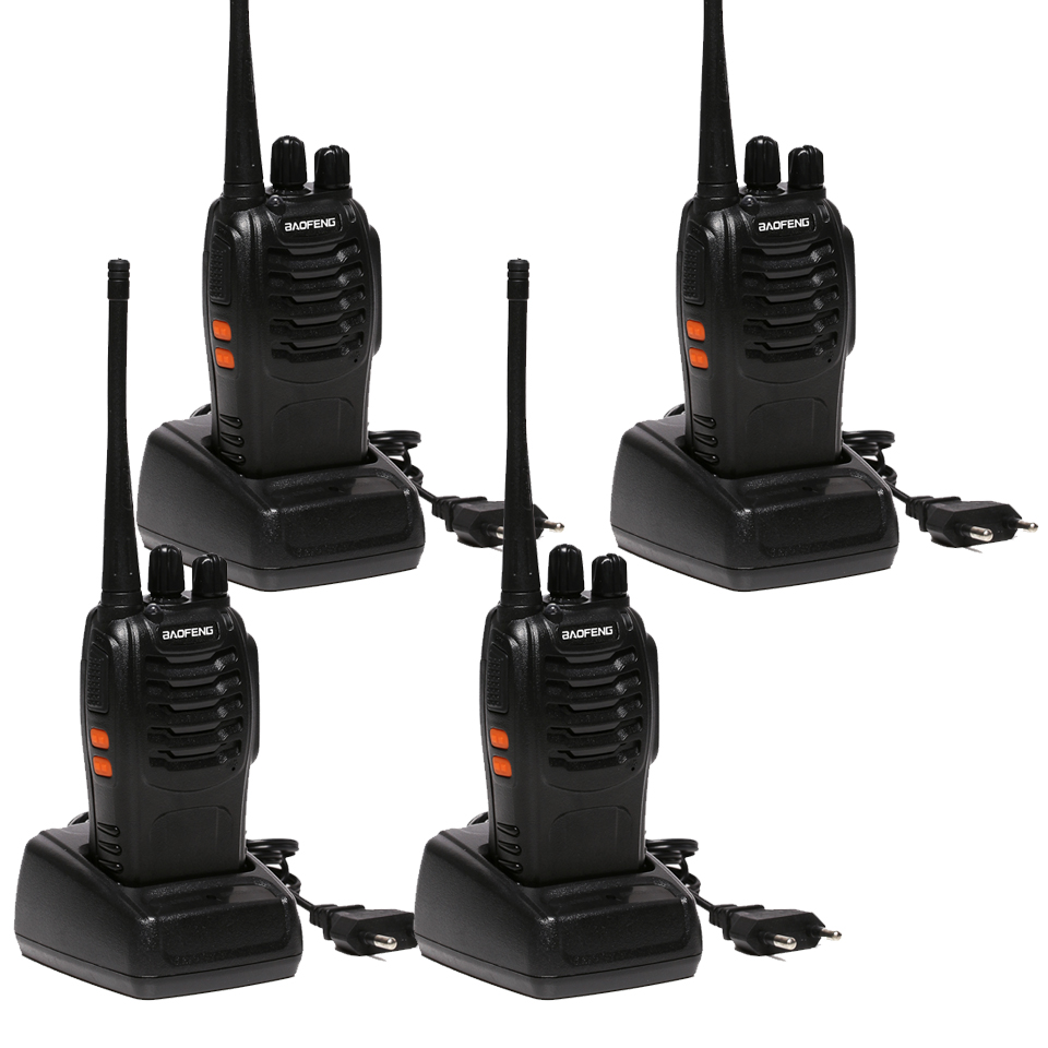 4 PCS Baofeng BF-888S Walkie Talkie 5W Handheld Pofung bf 888s UHF 5W 400-470MHz 16CH Two Way Portable Scan Monitor Ham CB Radio