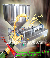 Free Shipping liquid or paste filling machine, pneumatic, semi filler, single head with Cylinder, piston, 12 months guarantee