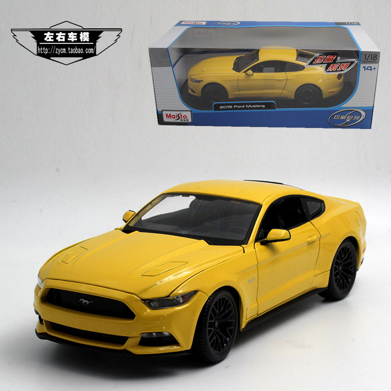 Brand New 1/18 Scale Maisto Car Model 2015 Ford Mustang Diecast Metal Car Toy For Gift/Collection/Decoration/Kids(China (Mainland))