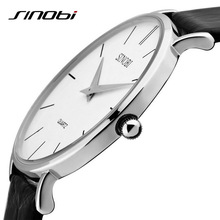 Super slim Quartz Casual Wristwatch Business JAPAN SINOBI Brand Genuine Leather Analog Quartz Watch Men's 2016 relojes hombre(China (Mainland))