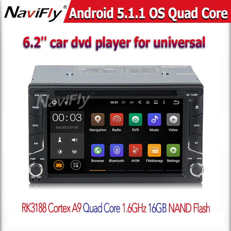 Free shipping QuadCore Android 5.1.1 car dvd 2din universal double din Stereo GPS Navigation car radio 16G nand flash(China (Mainland))