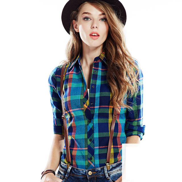 Flannel Shirts For Plus Size Women Ladies Flannel Shirt Women