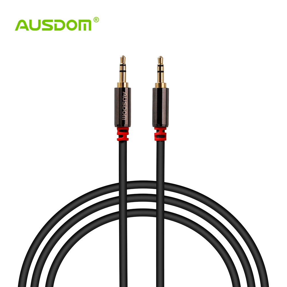 AUSDOM AF001 Male to Male 3.5mm AUX Audio Cable Car Audio Cable Audio Extension Cable - 120CM(China (Mainland))