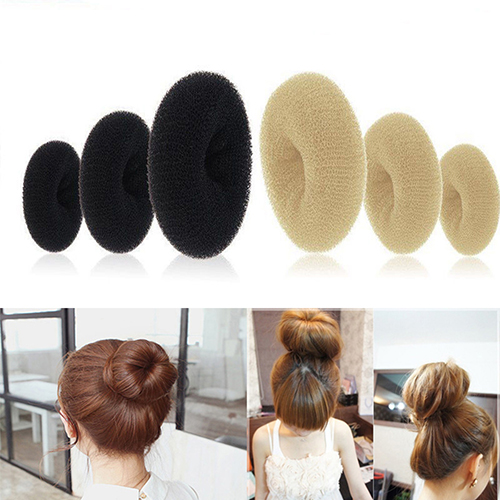 New arrival Women Magic Blonde Donut Hair Ring Bun Former Shaper Hair Styler Maker Tool Hair Accessories 7FIX 7VPO(China (Mainland))