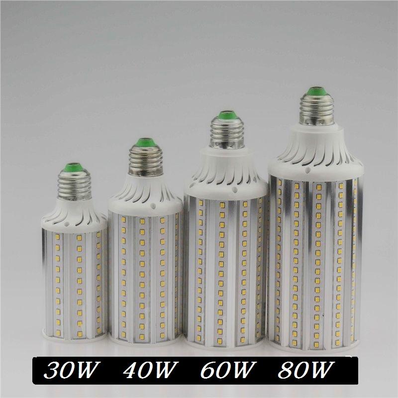 Super Bright 30W 40W 60W 80W LED Lamp E27 E40 110V 220V Lampada Corn Bulbs Light Pendant Lighting Chandelier Ceiling Spot light(China (Mainland))