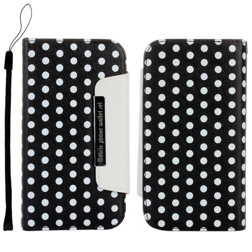 Case for Samsung Galaxy S3 i9300 Cover 2 in 1 Polka Dots Detachable Magnetic Wallet Leather Coque Fundas S3 Neo i9300i i9305(China (Mainland))