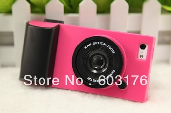 Free Shipping Perfect  Protector  Fashion Skin Cover Design Plastic Camera Case For Iphone5